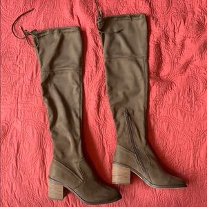 Taupe Steve Madden Over The Knee Boots
